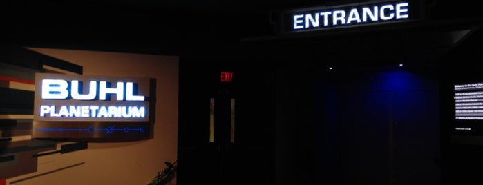 Buhl Digital Planetarium is one of Planetarium Pilgrimages.