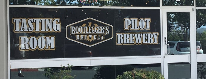 Bootlegger's Brewery Redlands is one of Tempat yang Disukai Kevin.