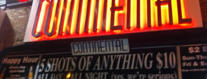 Continental is one of NYC SPOTS.