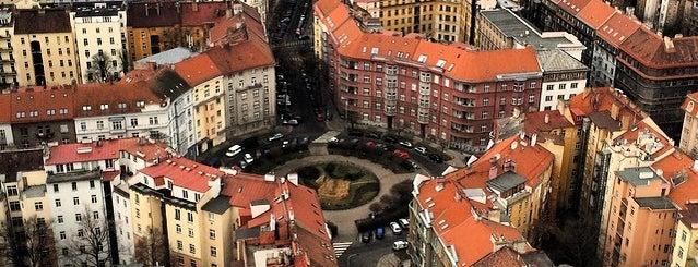 Žižkov television tower is one of Nejlepší výhledy v Praze.