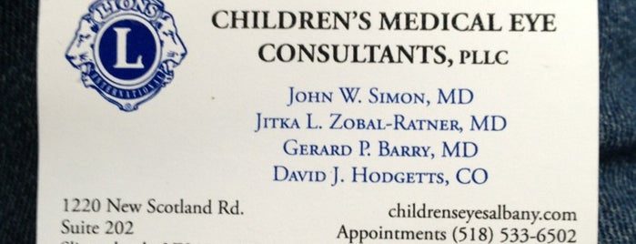 Children's Medical Eye Consultants, PLLC is one of สถานที่ที่บันทึกไว้ของ Nicholas.