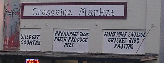 Crossvine Market is one of Texas Highways Top Mom & Pop Stops.