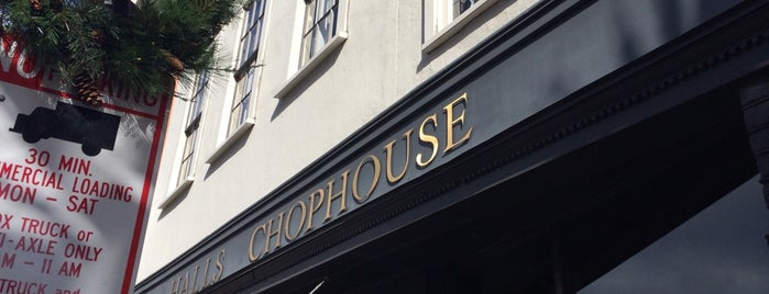 Hall's Chophouse is one of Bikabout Charleston.