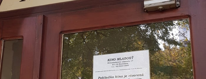 Kino Mladosť is one of Slovacchia.