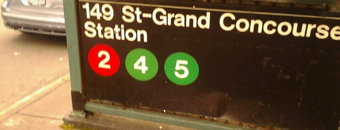 MTA Subway - 149th St/Grand Concourse (2/4/5) is one of Tempat yang Disukai Jason.