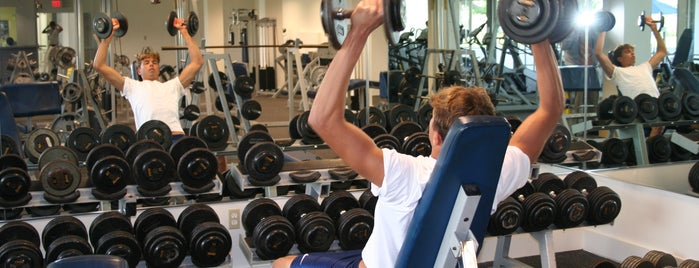 Lynn University Fitness Center is one of Orientation Challenge.