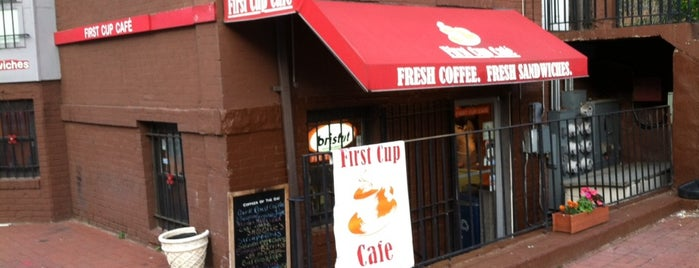 First Cup Cafe is one of Independent Coffee in Washington, DC.