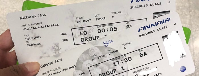 Finnair Check-in is one of Finland فنلندا.