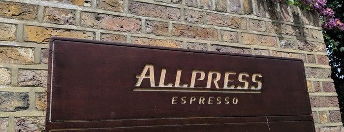 Allpress Espresso Roastery & Cafe is one of East London.