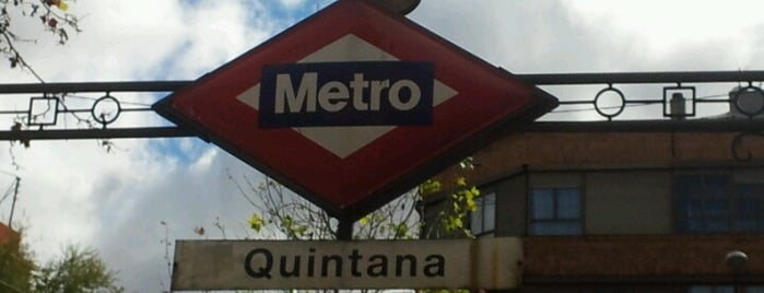 Metro Quintana is one of Transporte Madrid.