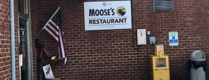 Moose's Restaurant by the Creek is one of Lieux sauvegardés par Adam.