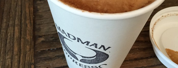 Madman Espresso is one of NYC  cafe / coffee lovers (esp soy milk drinkers).
