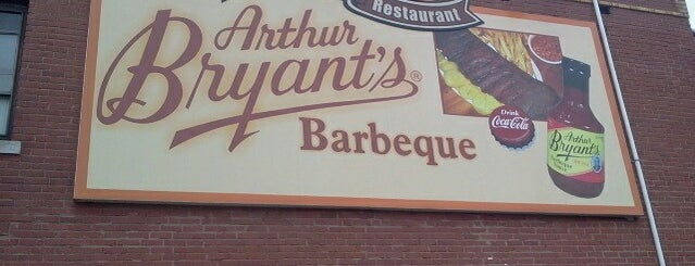 Arthur Bryant's Barbeque is one of Diners Drive-Ins and Dives & Roadfood.