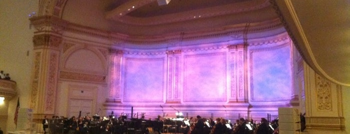 Carnegie Hall is one of Music Venues.