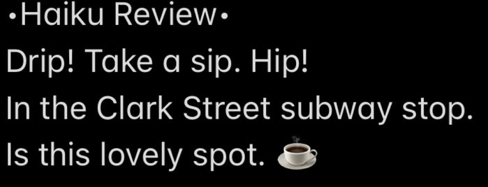 Drip is one of New York.
