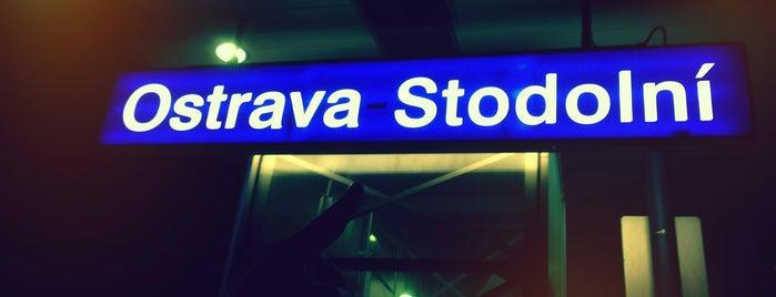 Železniční zastávka Ostrava-Stodolní is one of Ostravská nádraží.