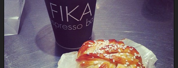 FIKA Espresso Bar is one of JFK.