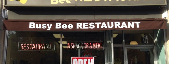 Busy Bee Restaurant is one of Orte, die Shawn gefallen.