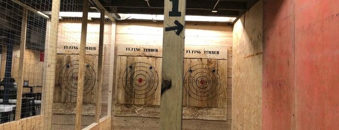 Flying Timber Axe Throwing is one of Jen : понравившиеся места.