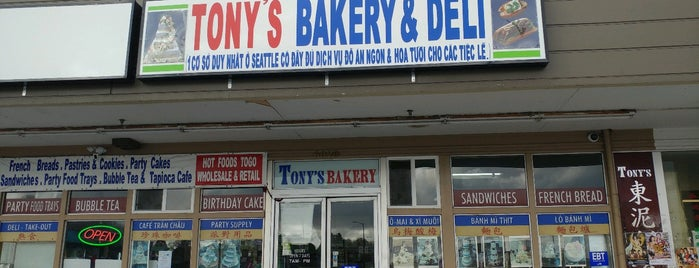 Tony's Bakery is one of Foodie Insider's Guide to Seattle.