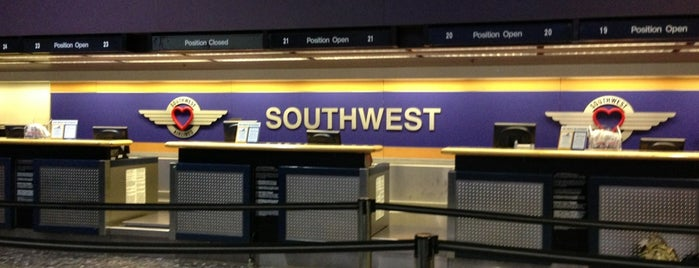 Southwest Airlines Ticket Counter is one of Las Vegas favs.