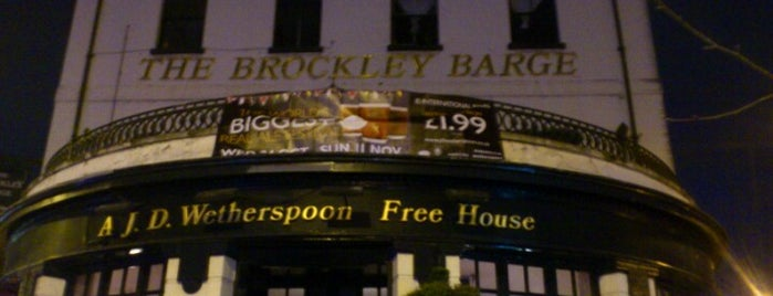 The Brockley Barge (Wetherspoon) is one of Lieux qui ont plu à Carl.