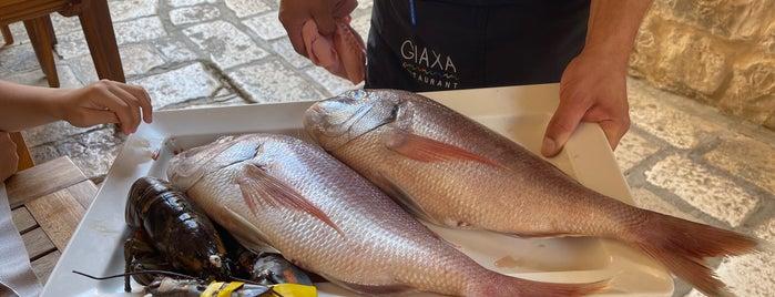 Restaurant Giaxa is one of Hvar.