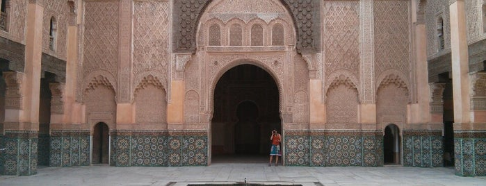 Medersa Ben Youssef is one of MARRAKECH SITES.