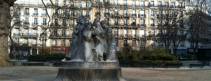Square Montholon is one of Paris : Promenade.