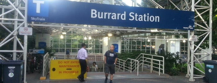 Burrard SkyTrain Station is one of Translink Champion Badge.