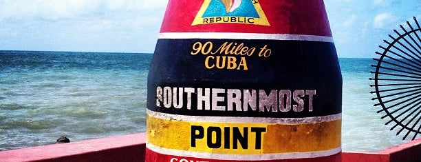 Southernmost Point Buoy is one of Floridas Top Spots.