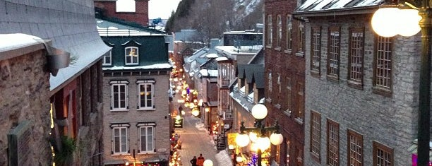 Quartier Petit-Champlain is one of Quebec to-do/eat.