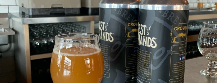 Best of Hands Barrelhouse is one of Breweries I've been to..