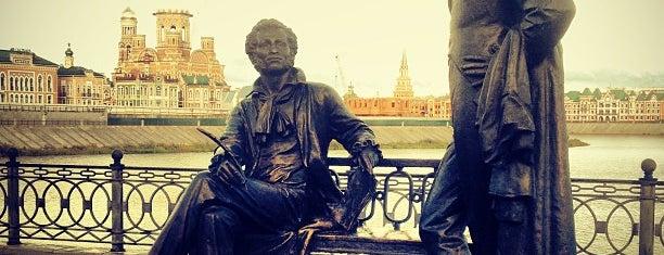 Памятник Пушкину и Онегину is one of Tempat yang Disukai Alexander.