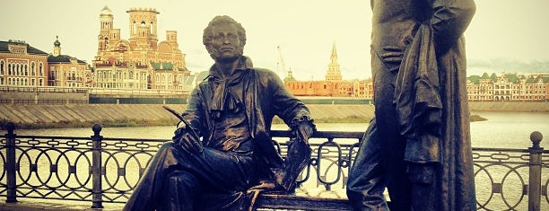 Памятник Пушкину и Онегину is one of Alexander : понравившиеся места.