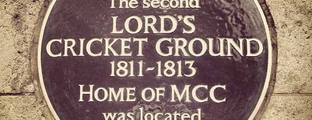 Lord's Cricket Ground (MCC) is one of Lieux qui ont plu à Mark.