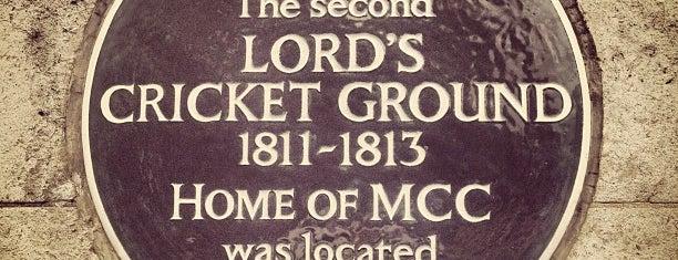Lord's Cricket Ground (MCC) is one of Mark 님이 좋아한 장소.