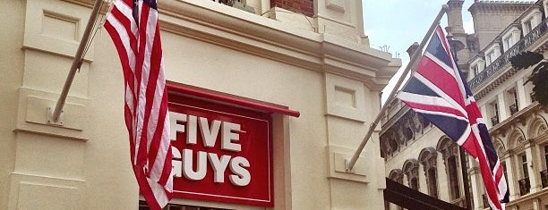 Five Guys is one of Best restaurants in London.