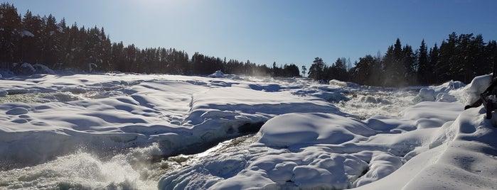 Storforsen Waterfall is one of สถานที่ที่ Jacobo ถูกใจ.