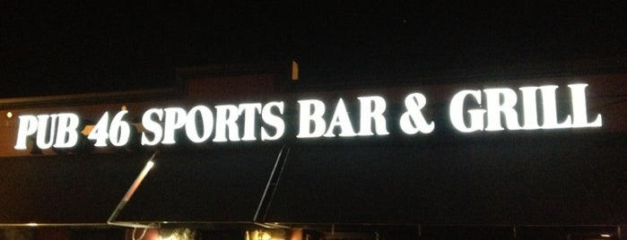 Pub 46 Sports Bar & Grill is one of 973 Bars - Bottoms Up.