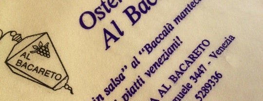 Osteria Al Bacareto is one of Europe.