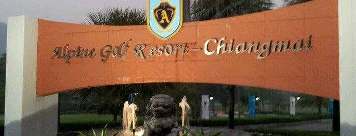 Alpine Golf Resort Chiang Mai is one of Tempat yang Disukai Andrew.