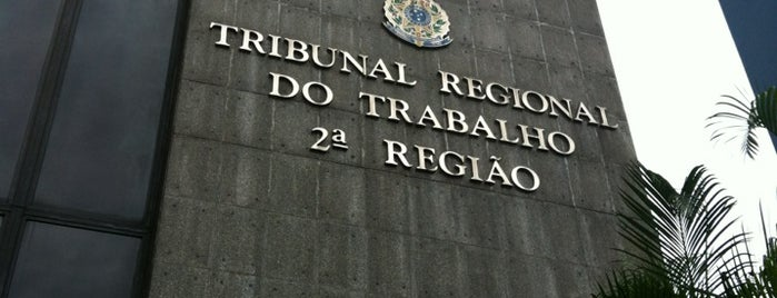 Tribunal Regional do Trabalho da 2ª Região is one of Lugares favoritos de Milena.