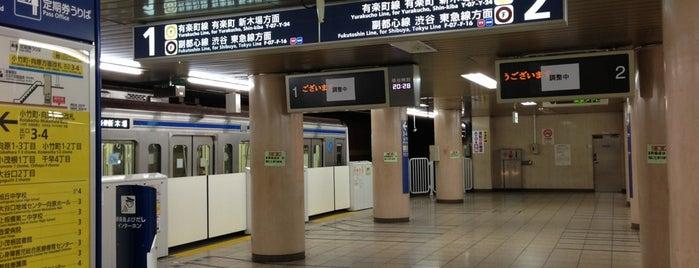 Fukutoshin Line Kotake-mukaihara Station (F06) is one of Tokyo - Yokohama train stations.