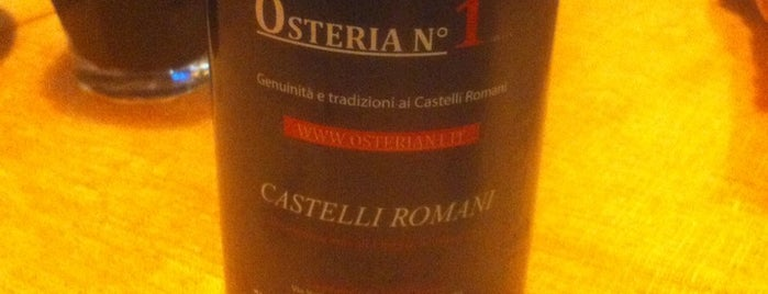 Osteria n°1 is one of Castelli Romani.
