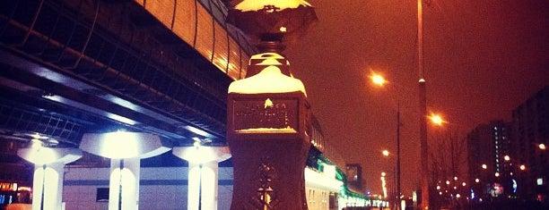 "Остановка «Метро ""ул. Скобелевская"" is one of Таня : понравившиеся места."