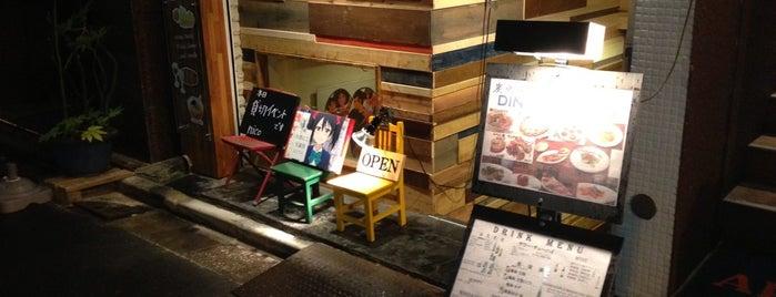 ラーメン ワインバル食堂 nico is one of Posti salvati di Ben.