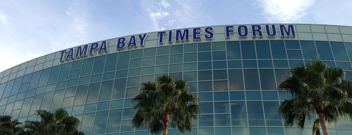Amalie Arena is one of AT&T Spotlight on Tampa Bay, FL.