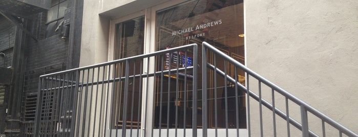 Michael Andrews Bespoke is one of NYC Men's Stores.