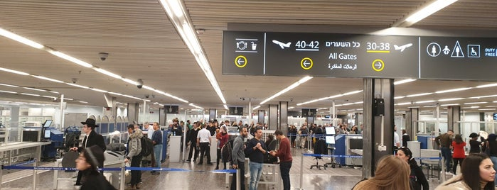 Ben Gurion Security Checkpoint is one of Lugares favoritos de Guillaume.